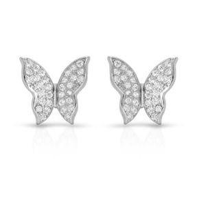 Jewelry - 925 Sterling Silver CZ Butterfly Stud Earrings